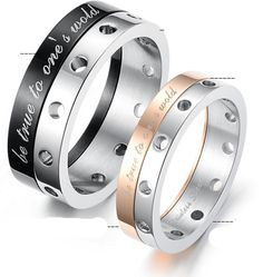 316L Titanium Steel, Rotating, Promise couple rings set, Couple Ring, GULLEITRUSTMART.COM, anniversary couple rings, wedding couple rings, couple finger rings, korean couple ring set, cheap couple rings