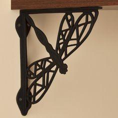Dragonfly Cast Iron Shelf Bracket | Signature Hardware