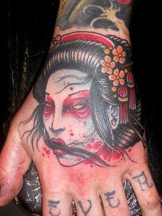 Dead Geisha Tattoo by Derek Noble