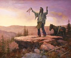 Gathering Sage for the Sundance by Howard Terpning. The Basha collection is at the Zelma Basha Salmeri Gallery in Chandler AZ Native American Artwork, Native American Quotes, Native American Symbols, Native American Women, Native American Artists, Native American History, Native American Indians, Native Indian, Native Art