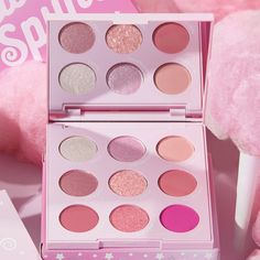 This baby pink palette is sweeter than candy! Featuring a perfect mix of Super Shock, Pressed Glitter, matte and metallic finishes and a range of pinks to create the sweetest looks! 🍭 Beauty Care, Beauty Makeup, Hair Beauty, Pastel Makeup, Ulzzang Makeup, Glitter Eyeshadow Palette, Makeup Pallets, Pink Palette, Colourpop Cosmetics