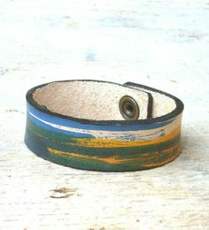 Custom leather armband, handcrafted of veg tanned leather. Available at stabouna.etsy.com