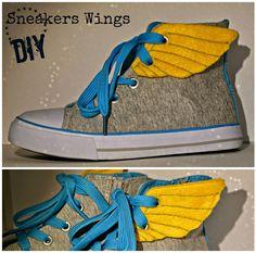 DIY-Zapatillas con alas / Sneakers Wings-DIY