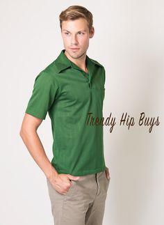 Men's Top Men's Vintage top Mens 60s top by TrendyHipBuysVintage