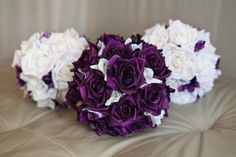 from artificial wedding bouquets  18cms $85  22cm $130