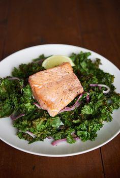 Kale and salmon