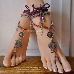 Bohemian Gypsy Hippie Barefoot Sandals