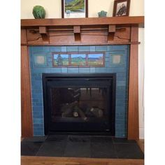 historic homes Let Modern Bungalow transform your drab fireplace to a work of art! Our designers have years of experience creating unique designs to fit into historic homes, or into new Craftsman Fireplace, Custom Fireplace, Fireplace Design, Fireplace Mantels, Fireplaces, Fireplace Ideas, Craftsman Remodel, Craftsman Interior, Craftsman Homes