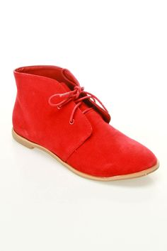 shoes for women: Explore Bootie In Red by BTR -- Cute red shoes. Pop against black dress pants!