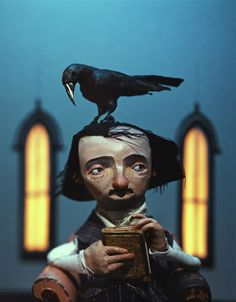 """This is Hilarious!! Which is """"funny"""" as I don't think of Laughing when I think of Poe and Crow!! """"The Raven and Edgar Allan Poe"""" by Chris Sickels"""