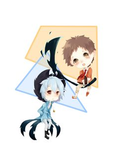 Servamp Chibi-Slothpair / Mahiru and Kuro by JuliUsagi