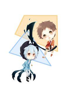 Servamp Chibi-Slothpair / Mahiru and Kuro by JuliUsagi
