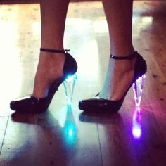 These r almost like My (birthday gift) Jeffrey Campbell light up heels! Except mine are blue!  They really do light up my life!