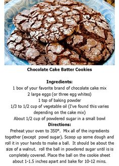 Chocolate Cake Batter Cookies .. super easy to make and these are YUMMY!!