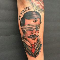 By Faith tattoo done by Nick Moran out of Liberty Ink in Morristown TN. #oillamp