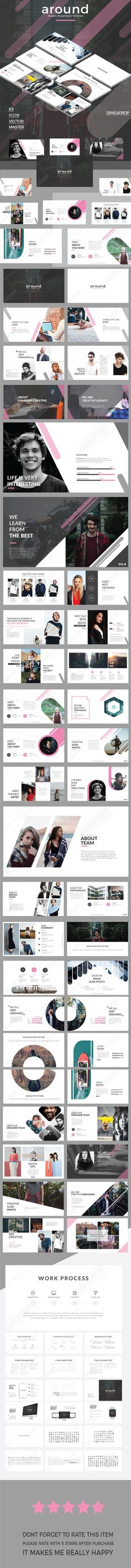 #around - modern keynote template - Business #Keynote Templates Download here: https://graphicriver.net/item/around-modern-keynote-template/19740865?ref=alena994