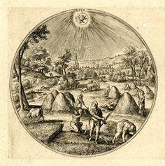 """""""Julius""""  after Hans Bol  c.1580  Engraving"""