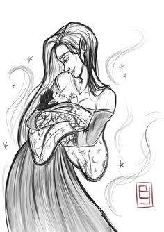 Feyre and Rhysand's son by bgart. Sarah J Maas