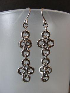 Spike Earrings Industrial Jewelry Hardware Jewelry Long Dangle