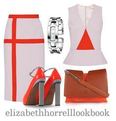 """LIZ"" by elizabethhorrell ❤ liked on Polyvore featuring Bibhu Mohapatra, Nicholas Kirkwood, Jil Sander and Calvin Klein"