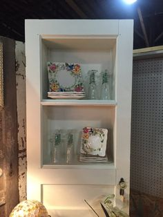 Repurposed Door Hutch Display Hutch Book Shelf by ChicAntiquing