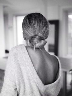 That looped bun! love low maintenance undone hair.