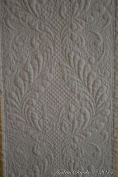 One of Andrea Strakes masterpieces Hand Quilting Patterns, Quilting Designs, Whole Cloth Quilts, Reduce Stress, Textile Art, Pure Products, Rugs, Home Decor, Welsh