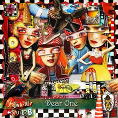 New release from Crowabout StudioB @ MischiefCircus.com   On sale now......Dear One Digital Scrap Pack Plus Printable Collage Sheets
