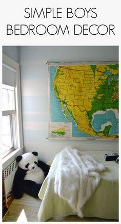 Oliver's Bedroom: Simple Boys Decor