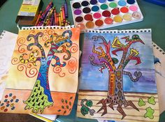 Klimt Tree of Life project for elementary