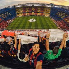 Photo of the Day! @marcplanes soaking in the pre-game vibe at the famous Camp Nou, proving @fcbarcelona is more than just a club. #FCB #⚽️