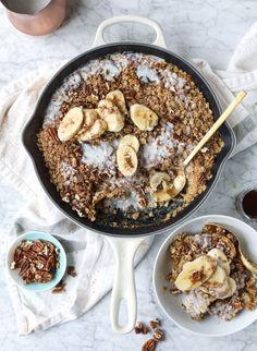 banana, bourbon and pecan baked oatmeal I howsweeteats.com #banana #bourbon #pecan #bakedoatmeal #howsweeteats