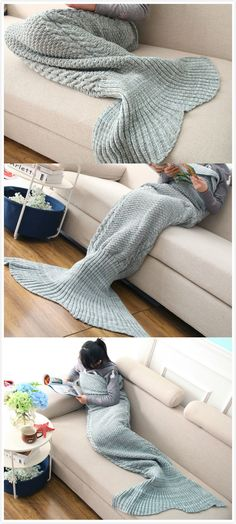Mermaid Tail Blanket for me !It has 8% off now ,the coupon code is :TIFFANY10  #discount #mermaid #crafty