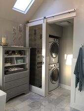 82 Remarkable Laundry Room Layout Ideas for The Perfect Home Drop Zones Master bathroom laundry & water closet Laundry Room Layouts, Laundry Room Bathroom, Small Laundry Rooms, Laundry Room Design, Laundry Decor, Bath Room, Closet Laundry Rooms, Bathroom With Closet, Laundry In Kitchen