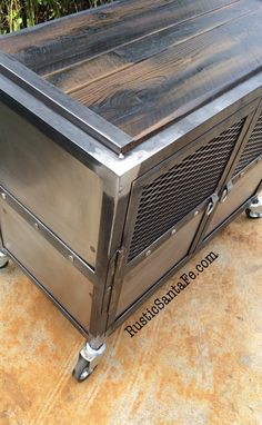 Reclaimed Industrial nightstand rustic side table/end table