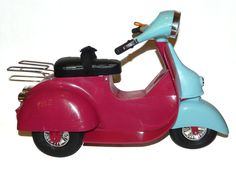"OG Our Generation Pink Doll Scooter Moped Fits American Girl Or Any 18"" Doll #Vehicles"