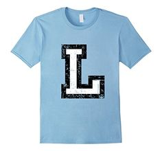 T-Shirts & Gifts with a printed distressed letter L. For names, words, sentences, athletes, sports clubs, societies, clubs, teams or jerseys. If you are interested in the letter L, alphabet, starting letters, initials, initial, name, jersey, sports club or team, you might like this shirt. You can combine several shirts to write entire names or sentences.