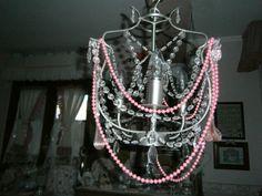 perline sul lampadario