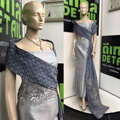 Bustle Dress, Silk Dress, Cute Dresses, Beautiful Dresses, Formal Dresses, Silk Design, Filipiniana Dress, Kebaya Dress, Thai Traditional Dress