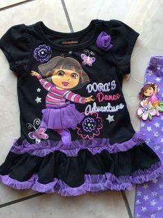 Dora The Explorer 2 Piece Girl's Outfit 12 Months | eBay