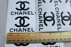 2.5'' Chanel Vinyl Aufkleber-8ST. Chanel von DecalworldStudio