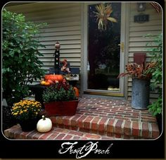 Love the brick...will do this on my porch steps