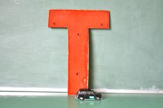 Vintage Red Sign Letter T by OhSoRetroVintage on Etsy,  SOLD