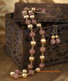 ruby-beads-necklace-gehna-jewellery-chennai
