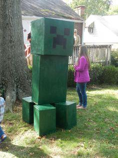 """The creeper"" from Minecraft Birthday Minecraft Birthday Party, 6th Birthday Parties, Birthday Fun, 16th Birthday, Birthday Ideas, Minecraft Party Decorations, Minecraft Crafts, Lego Minecraft, Minecraft Skins"