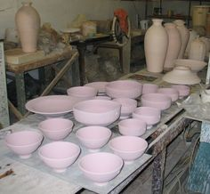 Unfired glazed ware