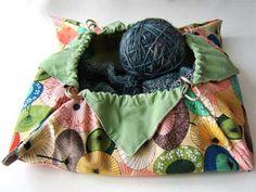 Origami Lotus Bag - Free Sewing Pattern