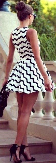 Flirty dress & a bun : )