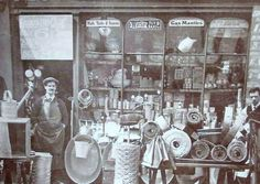 Author Jane Cox delves into her East London roots. This shows Jane's granddad Sid Short outsdide his oil and paint shop in the Roman Road, Bow, in the Vintage London, Old London, Vintage Shops, London Pictures, Old Pictures, Old Photos, London History, British History, Irish Catholic