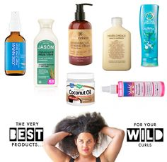 The very best products for your wild curls~~  Or a pair of shearing scissors. You know, whatever works.